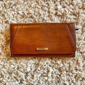 Burberry Leather Wallet Clutch Purse